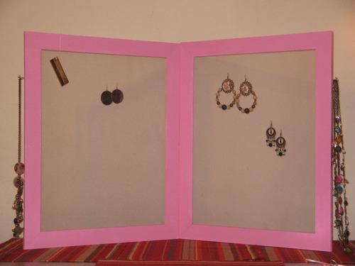 exhibidor organizador de aros plegable solo color negro