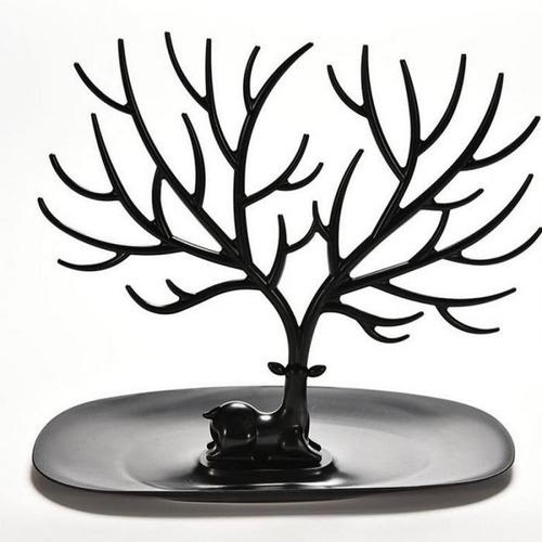 exhibidor organizador estante soporte joyeria ciervo m negro