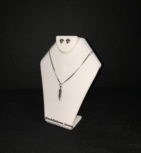exhibidor para collar, acrílico, base, soporte 17 cm altura