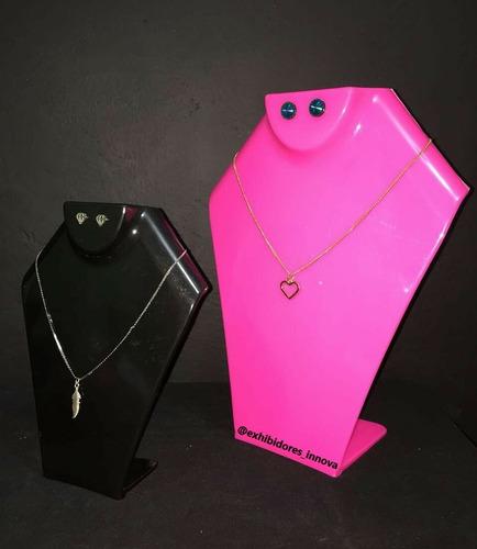 exhibidor para collar, acrílico, base, soporte 21 cm altura