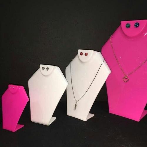 exhibidor para joyeria 21cm, cuello collar, soporte,acrilico