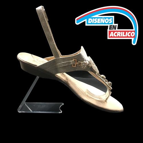 exhibidor para zapatos en acrilico 3 mm  talonera chica