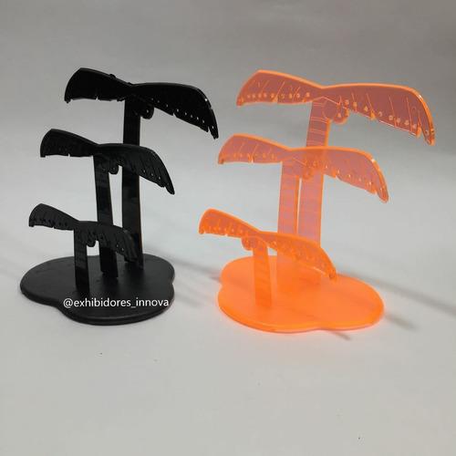 exhibidor plástico para aretes, palmera, acrílico, vitrinas