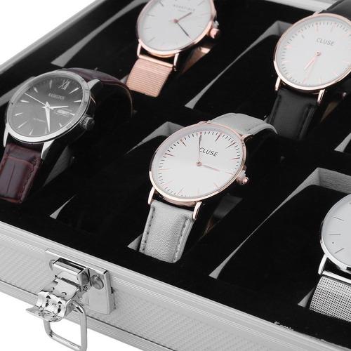 exhibidor reloj estuche relojes