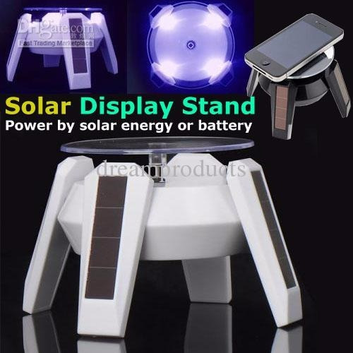 exhibidor solar con led para mostrar articulos varios