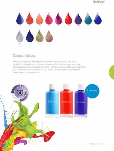 exhibidor x 72 unidades de esmaltes y tratamientos raffinée