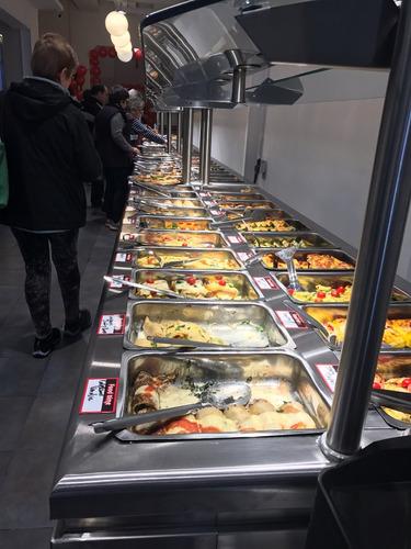 exhibidora de platos calientes lunchonettes 2 m acero cfg