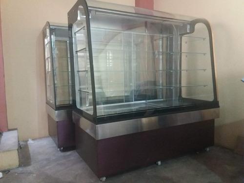 exhibidoras refrigeradas personalizadas / vitrinas d acero