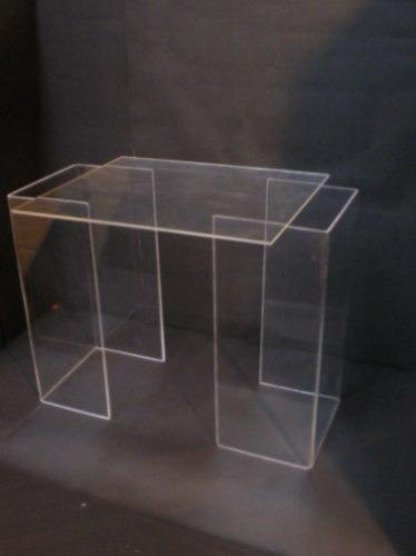 exhibidores de vidriera full-acril medio cubo