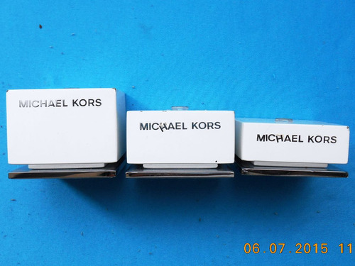 exhibidores juego bases 3 pzas p/ porta reloj michael kors