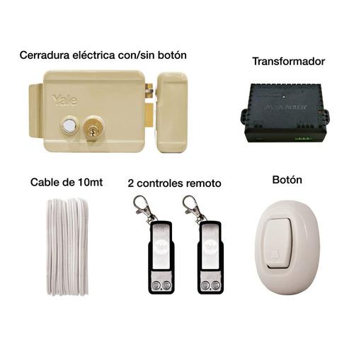 exi-h yale cerradura eléctrica derecha control remoto  yale
