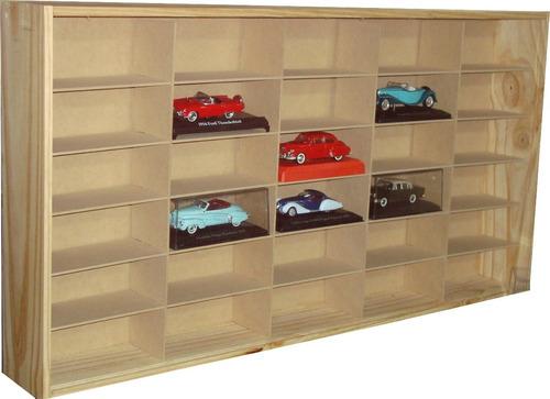 exibidores estanterias para autos escala 1-43 para 50 autos