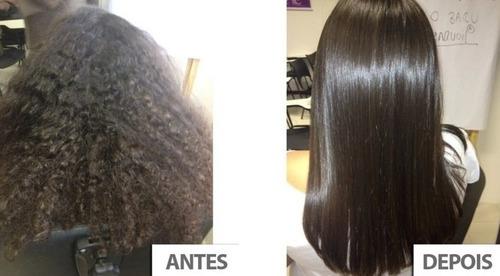 exo hair kit exoplastia alisamento + nanotron mask + brinde