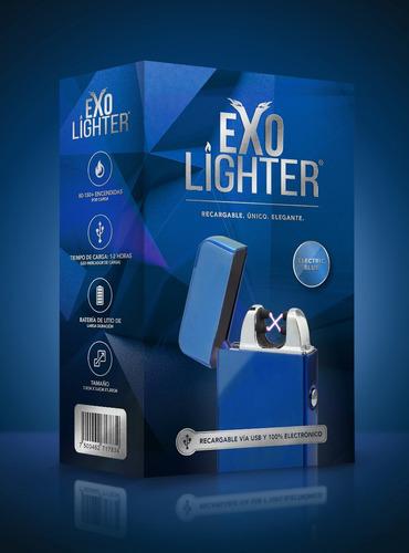 exo lighter - blue - encendedor electrónico de plasma