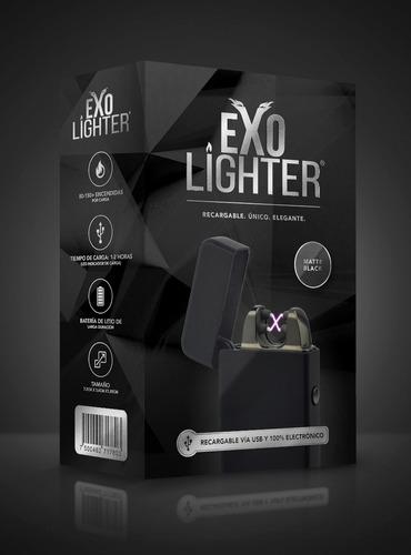 exo lighter - matte black - encendedor electrónico de plasma