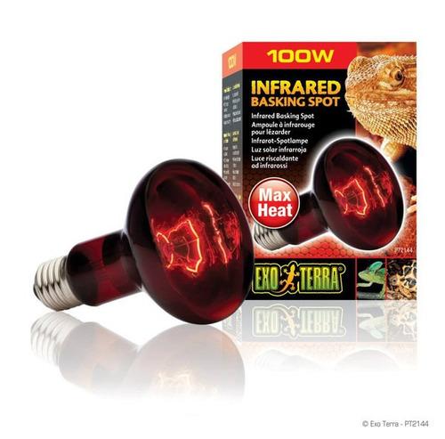 exo terra infrared basking spot lamp 100w