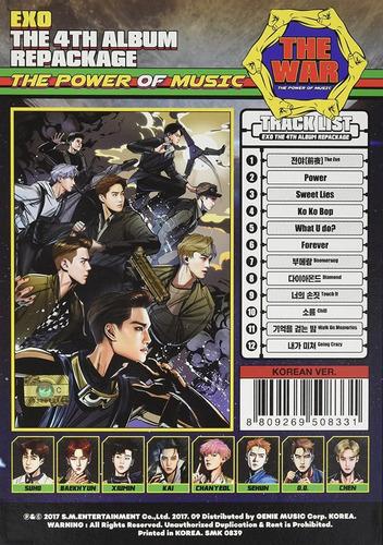 exo  war the power of music (korean ver.) cd nuevo importado