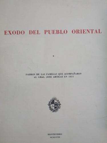 exodo del pueblo oriental, padrón, 1968, 32 pag