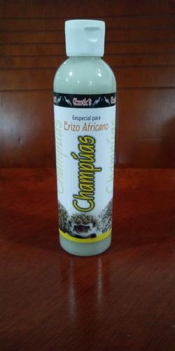 exotic champuas shampoo erizo africano 250ml limpio sano