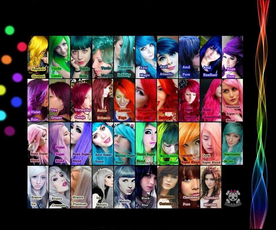 exotic colors criativ tinta - colorida cabelos cosplay - r$ 26,98