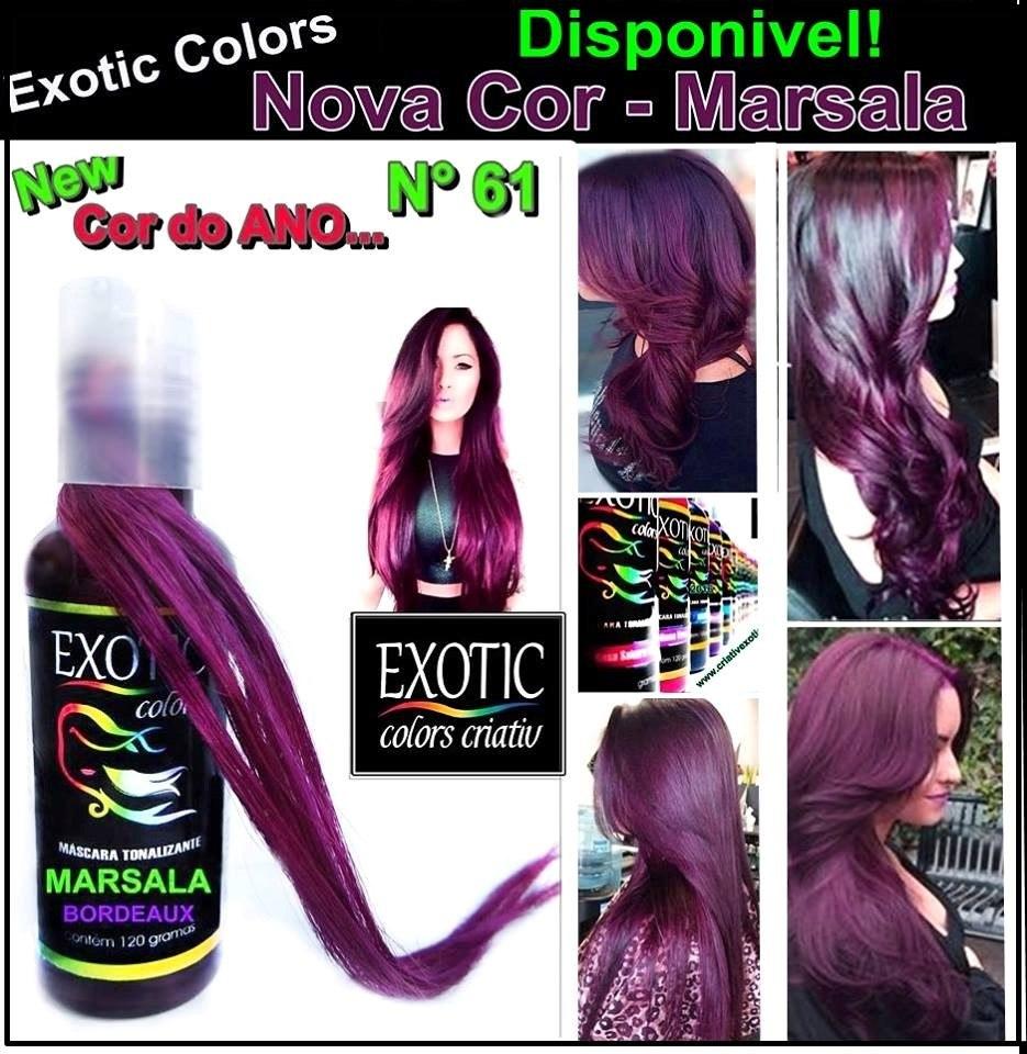 exotic criativ colors tonalizante marsala - r$ 32,00 em mercado livre