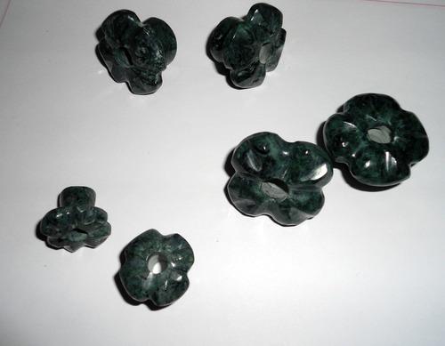 expansores de flor estilo prehispánico en jade nuevo