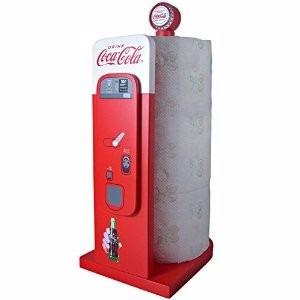 expendedor de papel de cocina de coca-cola