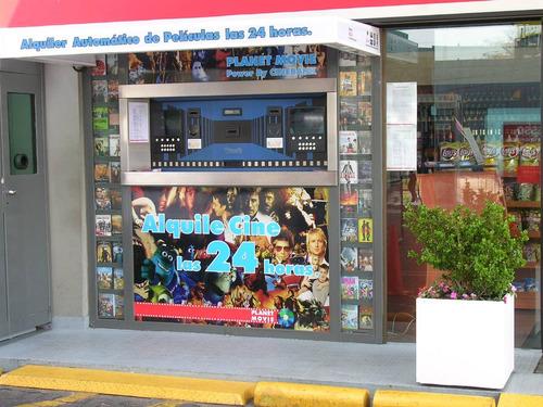 expendedor de peliculas, videos, dvds, discos,  vhs etc