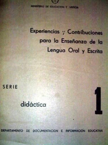experiencia y contribuciones de la enseñanza lengua oral.