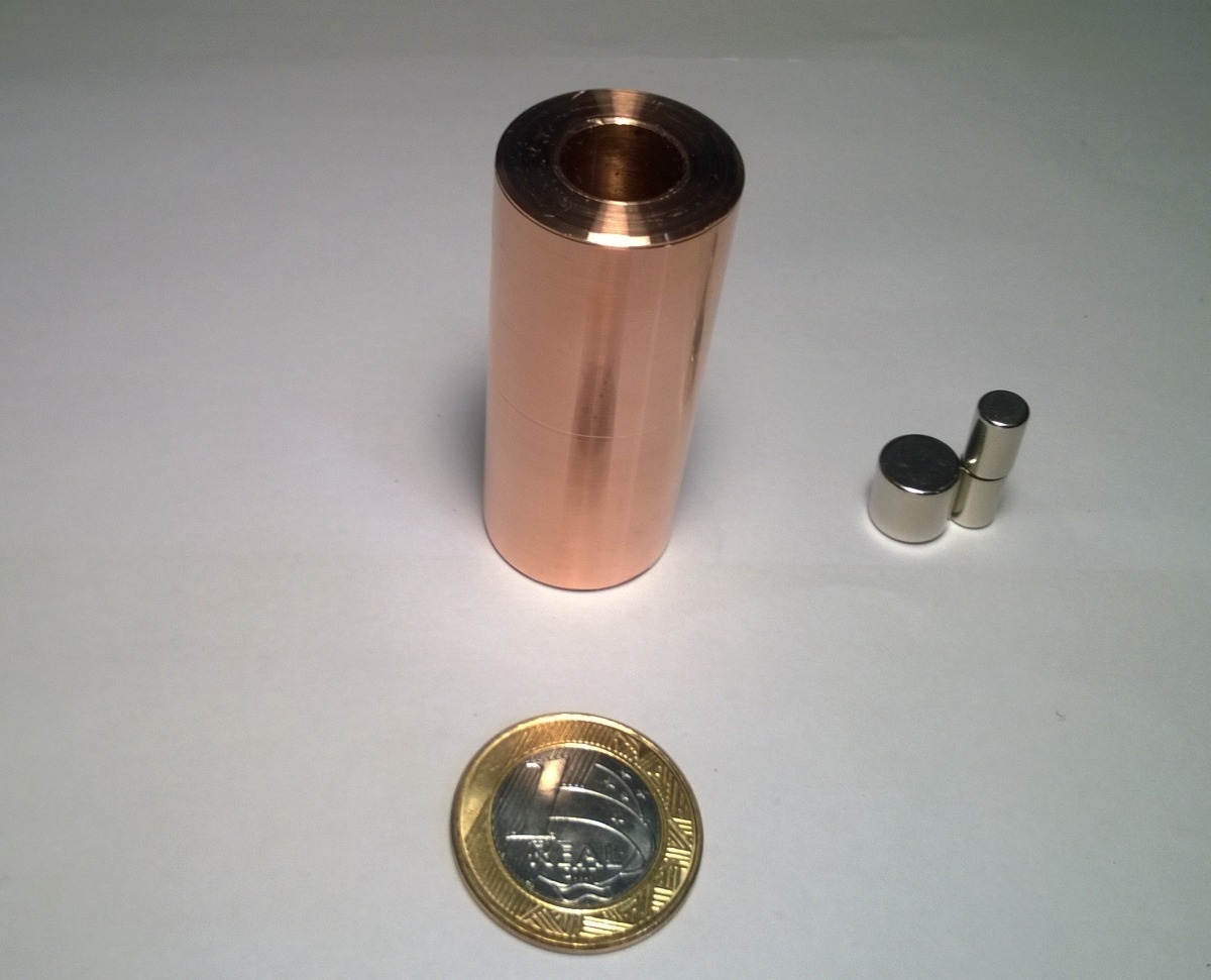 a0e1768b0e9 experimento de física lei de lenz tubo de cobre 25mmx60mm. Carregando zoom.