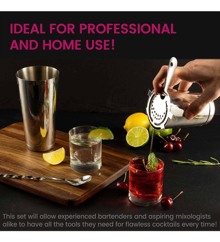 expert cocktail shaker - juego de barra para el hogar - jueg