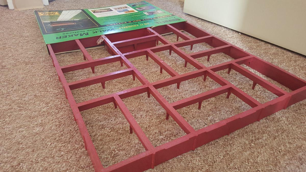 Experto en moldes 60x60cm adoquin piso concreto original for Cemento estampado precio