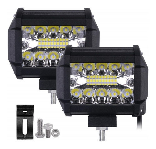 exploradora led doble color estrober antiniebla