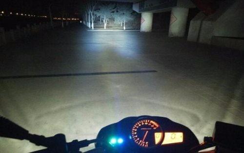 exploradoras led moto carro con ojo de angel u7 + suiche