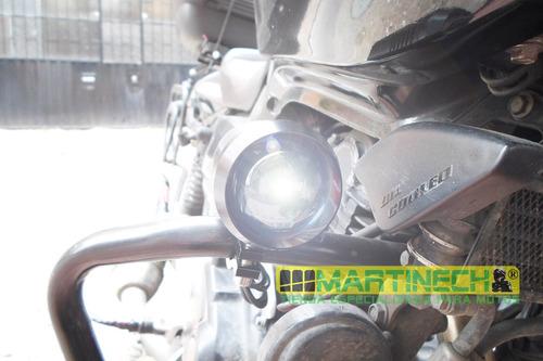 exploradoras moto led 3000 lumenes 30w con strober +obsequio