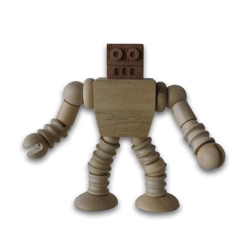 Robot Articulado Artesanal Explorbot Madera Juguete De UMzpGqSV