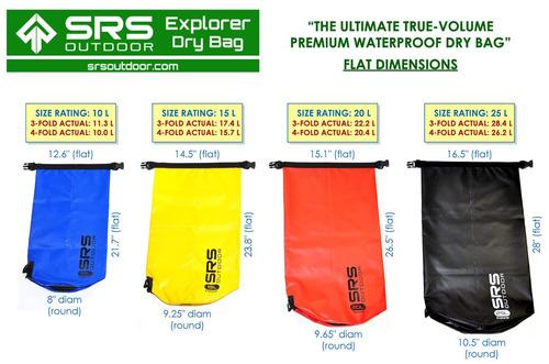 explorer dry bag: 20l true-volume premium waterproof boating