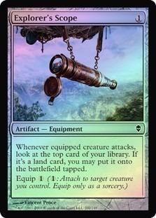 explorer's scope zendikar (foil)