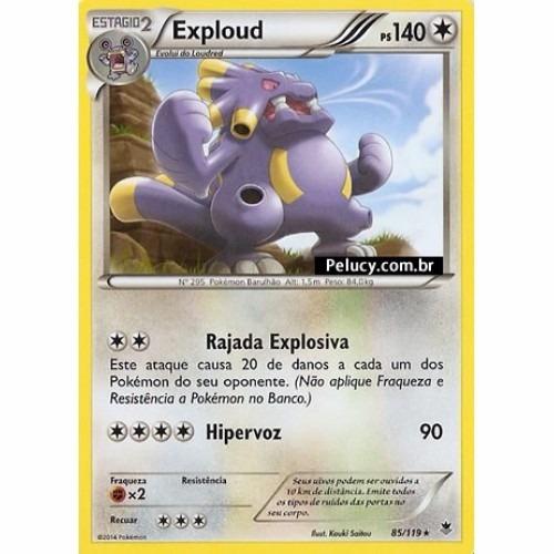 exploud - pokémon normal raro - 85/119 - pokemon card game