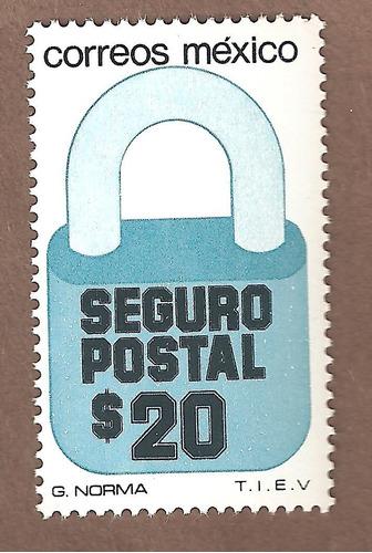 exporta  seguro postal candado $20  6xta serie mnh