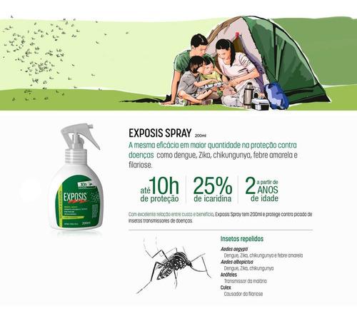 exposis repelente de insetos em spray em gatilho 200ml