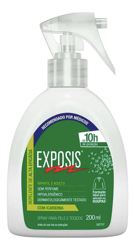 exposis repelente de insetos em spray original 200 ml