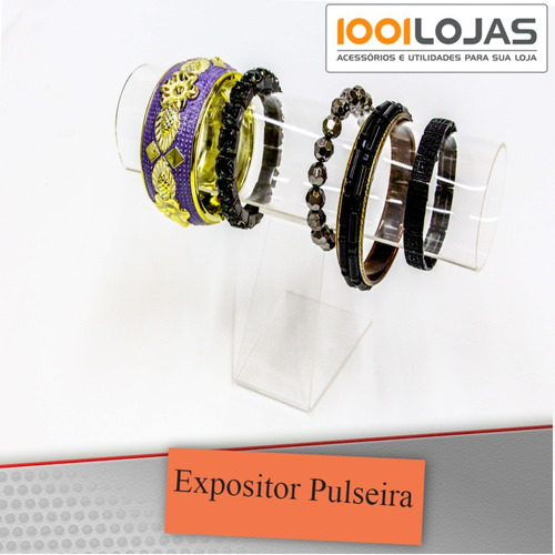 expositor acrílico para pulseiras relógios rabicó etc