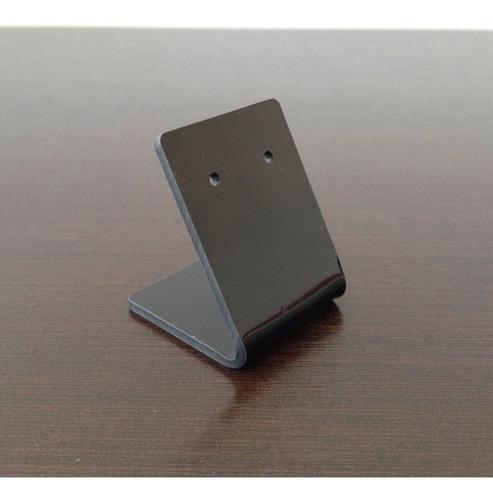 expositor acrilico preto para brincos - 10 peças