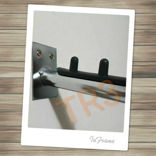 expositor cabideiro arara rt p/ parede inclinado cromado