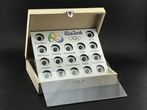 expositor de moedas - olimpiadas 2016 - com caixa e impresso