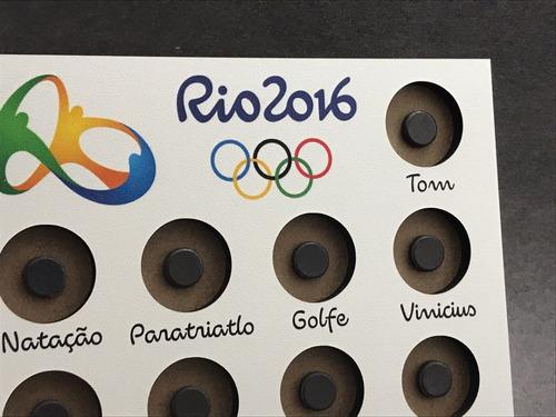 expositor de moedas - olimpiadas 2016 - com cavalete