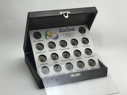 expositor de moedas - olimpiadas 2016 - cx pintada impresso