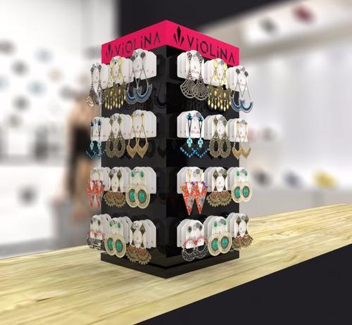 expositor display para brincos giratório
