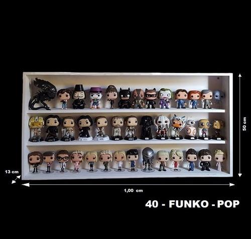 expositor estante ( 40 - funko pop ) figuras bonecos coleção